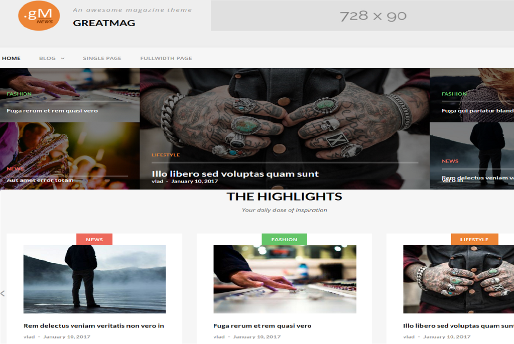 GreatMag best free WordPress theme
