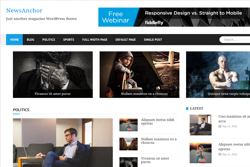 Newsanchor best free WordPress theme