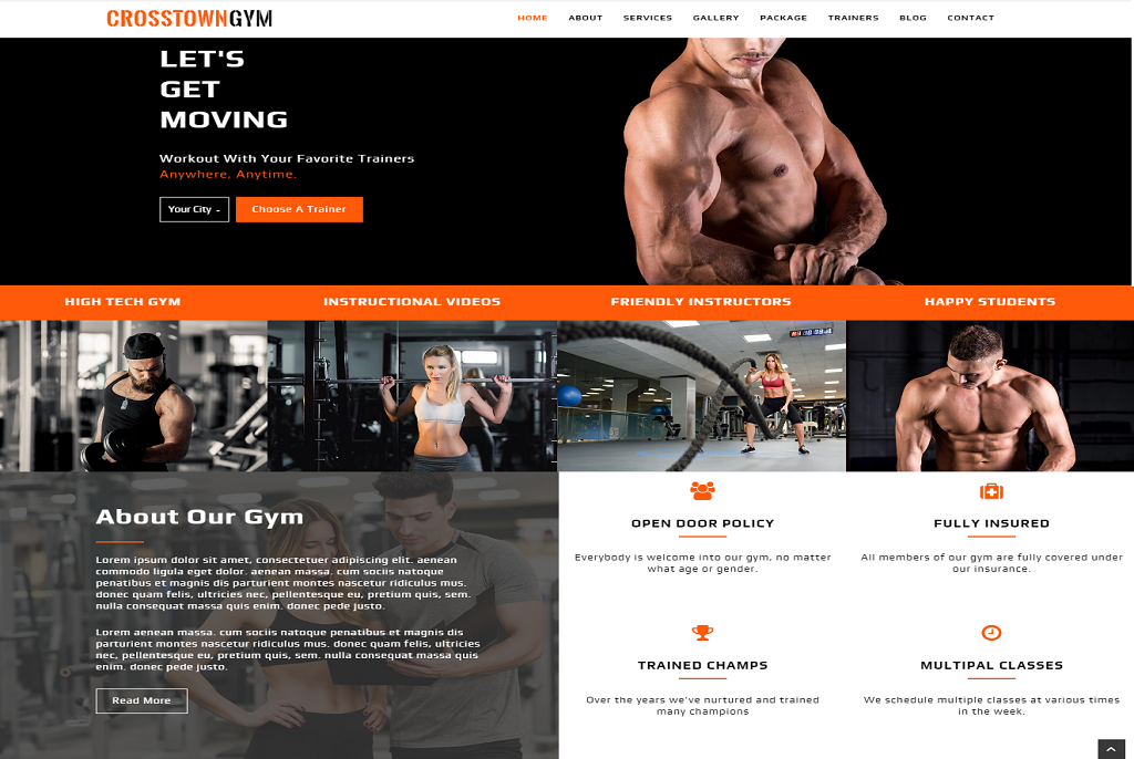 Crosstowngym best free WordPress theme