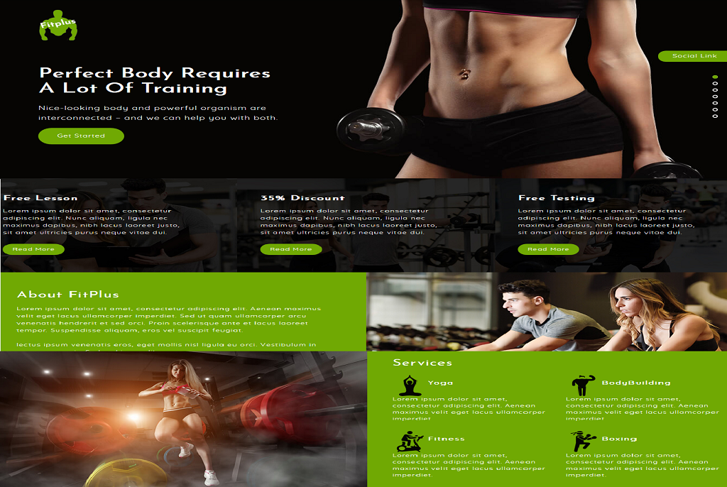 Fitplus best free WordPress theme