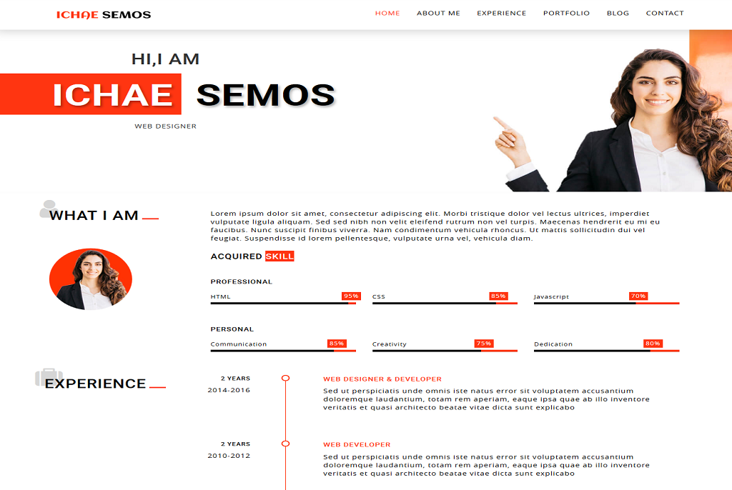 Ichae Semos best free WordPress theme