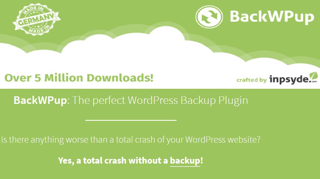 BackWPup wordPress backup plugins