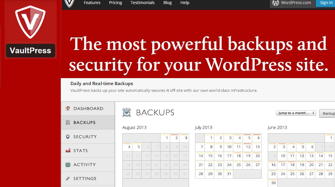 Vaultpress wordPress backup plugins