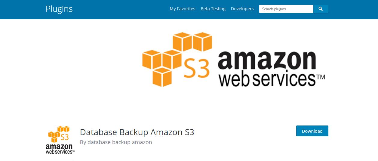 amazone s3 wordPress backup plugins