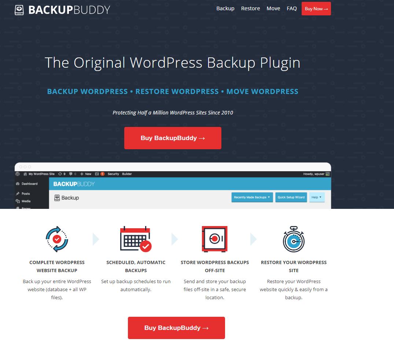 backup buddy wordPress backup plugins