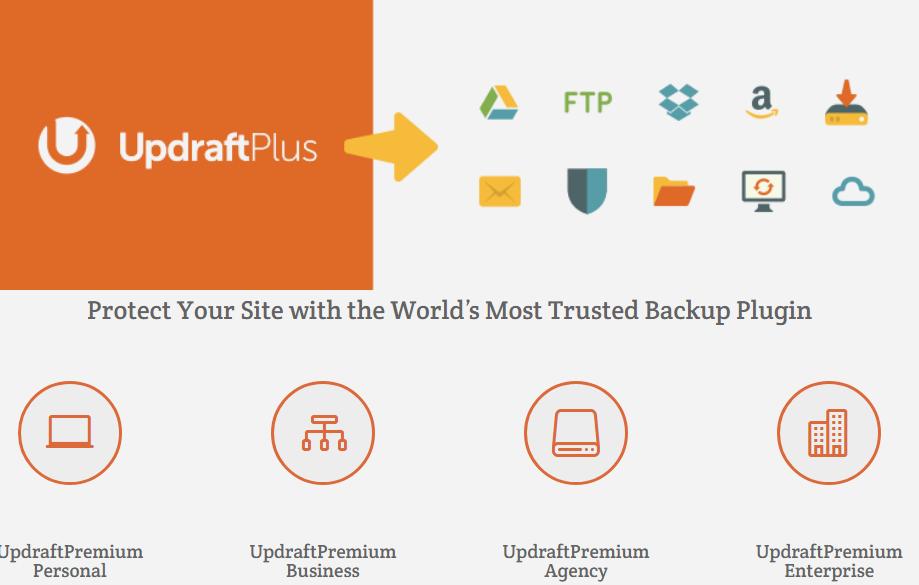 Updraftplus wordPress backup plugins
