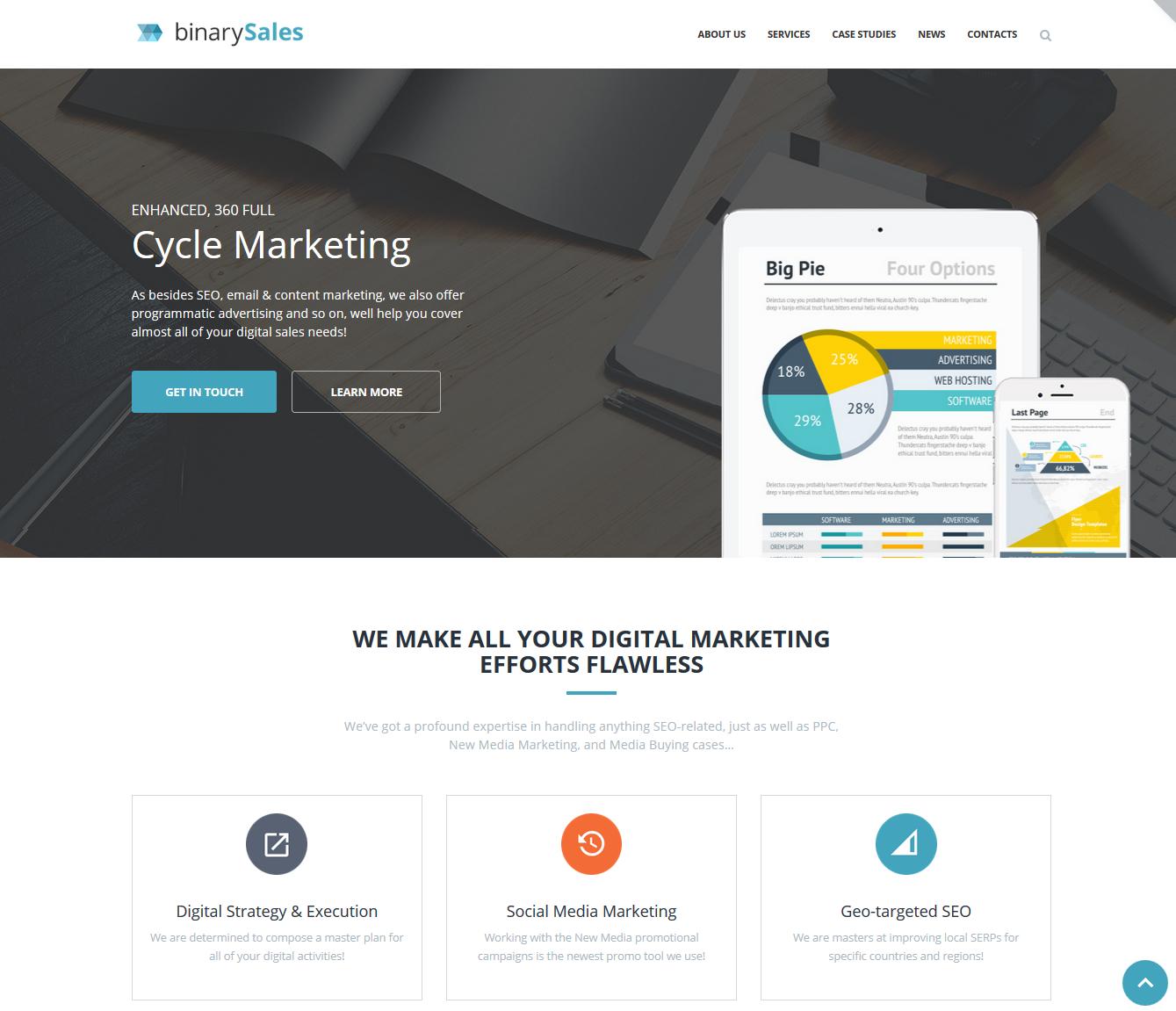 BinarySales Affiliate Marketing WordPress theme