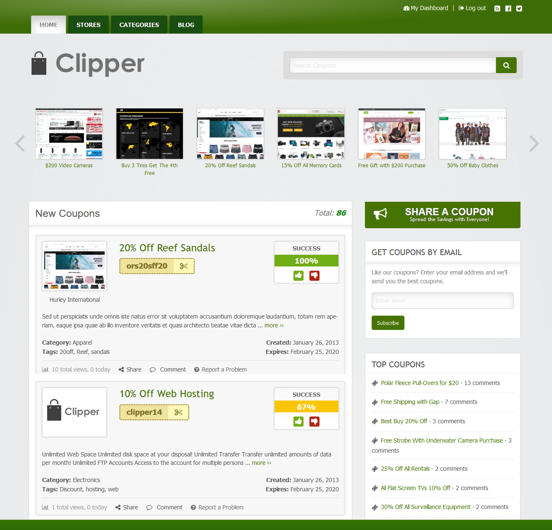Clipper Affiliate Marketing WordPress theme