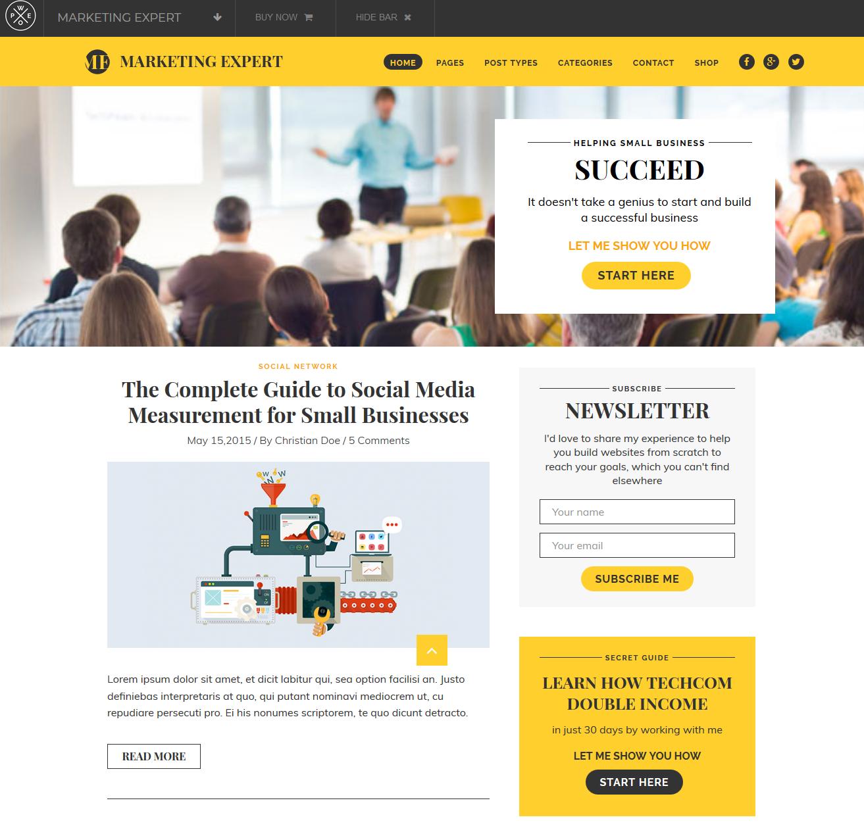 Expart Affiliate Marketing WordPress theme