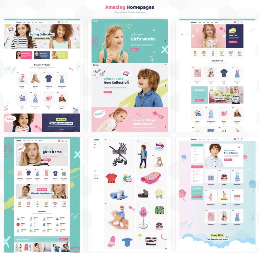 baby store wordpress theme