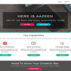 AAZEEN best free WordPress theme