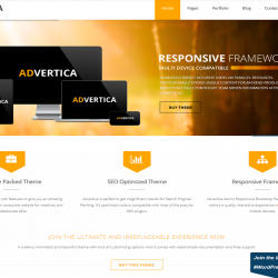 ADvertica best free WordPress theme