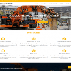 Ample construction best free WordPress theme