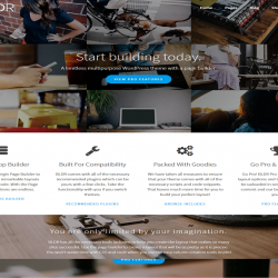 BLDR best free WordPress theme