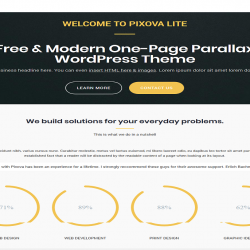 Pixova lite best free WordPress theme