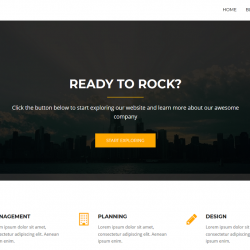 Rocked best free WordPress theme