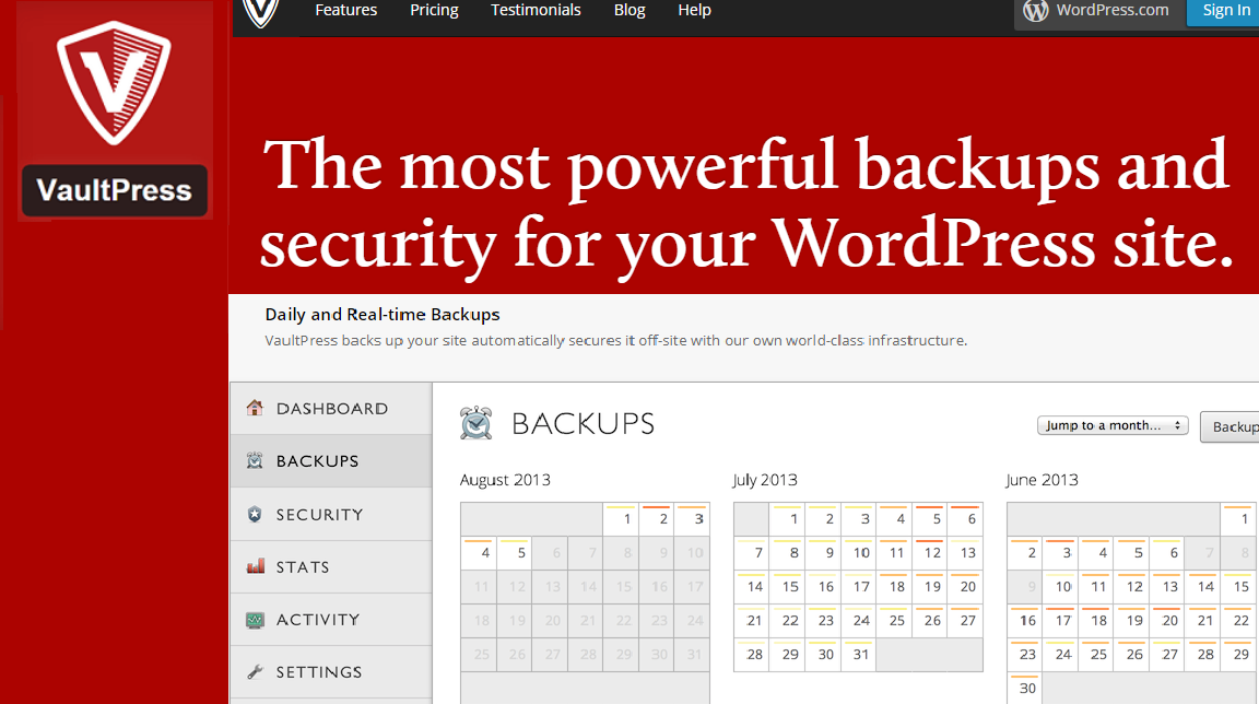 Vaultpress wordPress backup plugins