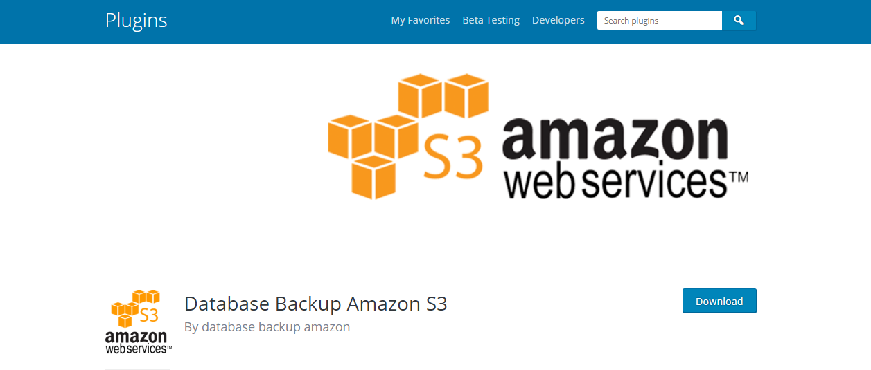 amazone s3 wordPress backup plugins