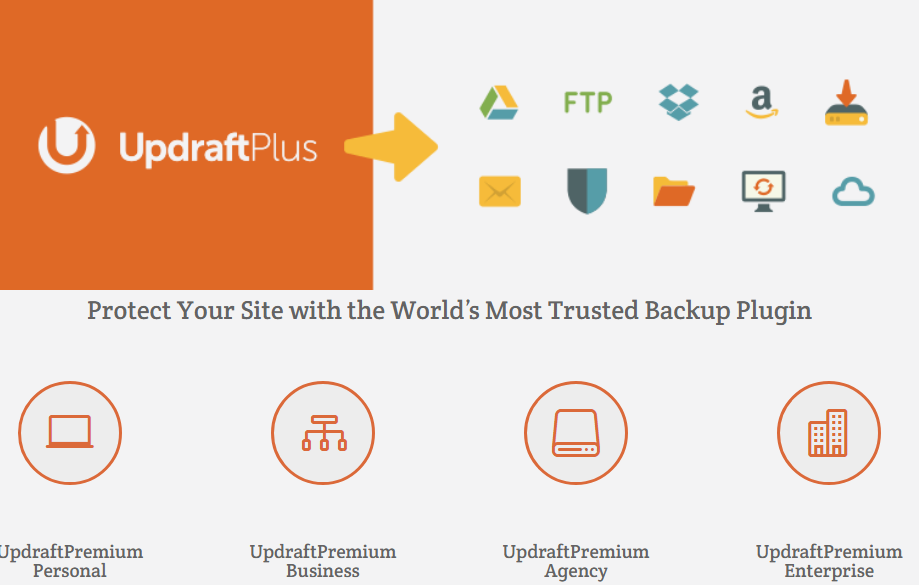 Updraftplus wordPress backup plugins
