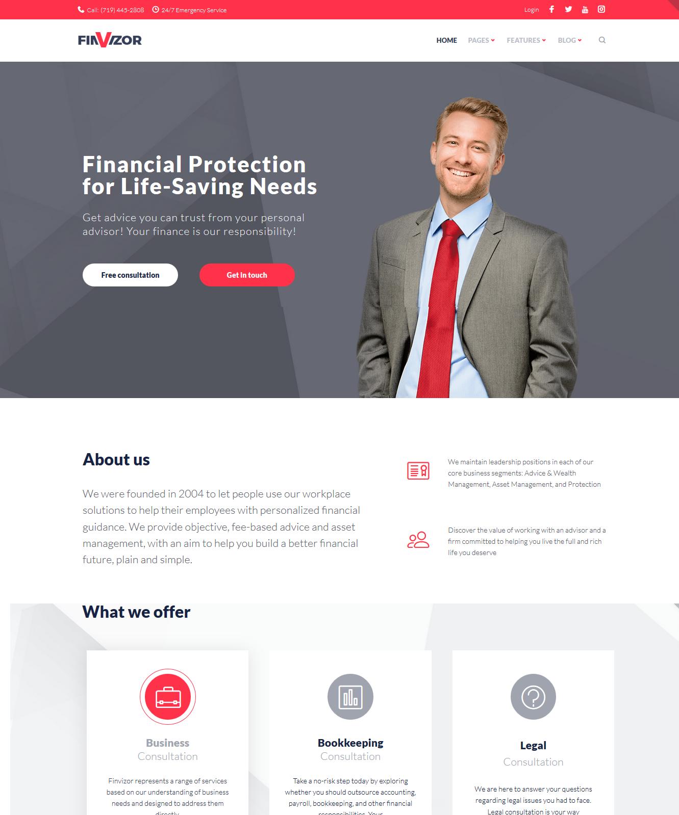 finvisor Affiliate Marketing WordPress theme