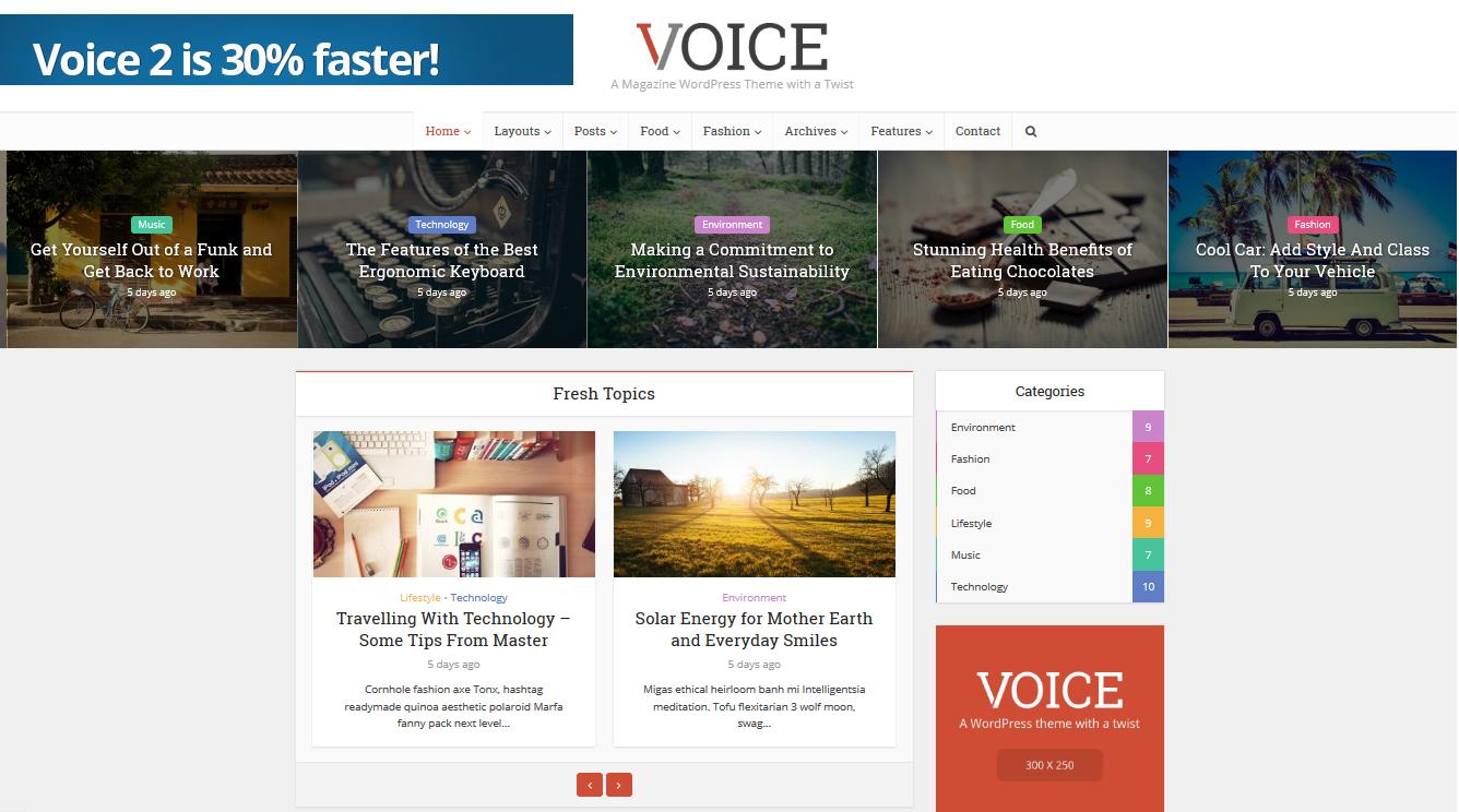 Voice Affiliate Marketing WordPress theme