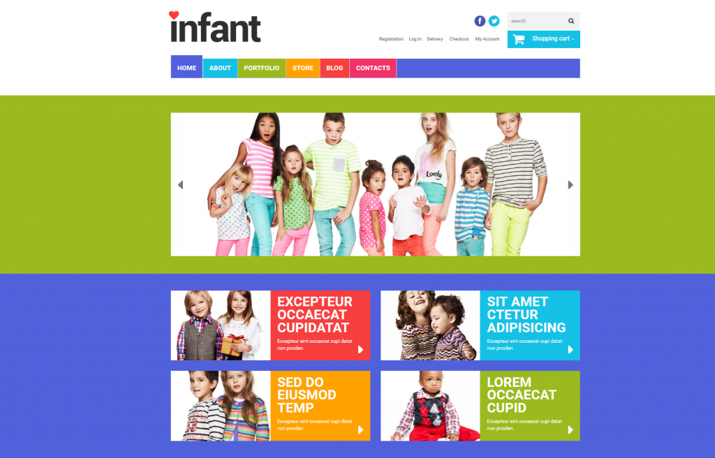 baby store wordpress theme
