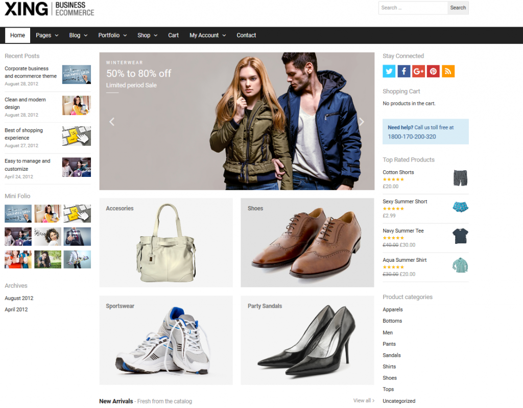 premium ecommerce wordPress themes